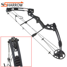 1set Metal Alloy 38inch Compound Bow 30-55lbs Adjustable Pulley For Outdoor Hunting Sports Shooting Training Archery