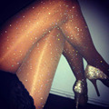 Sexy Womens ladies BASIC Stretch Woman Sexy Thin Bling Crystal Rhinestone Pantyhose Tights Stockings