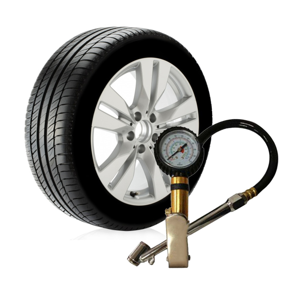 Auto Car Truck Motorcycle Pistol Flexible Hose 220 PSI <font><b>Tire</b></font> Pressure Gauge Air Inflator Gun car styling