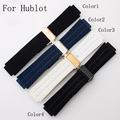 25*19mm Silicone Rubber Watch Strap Belt  Watchband For HUBLO Big Beng T Watch with Logo Deployment Clasp Double Push Buckle