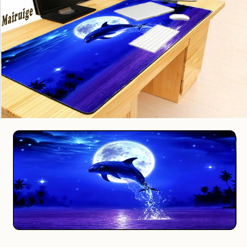Mairuige Free Shipping Non-slip Table Laptop Dolphin Jump Out BIG SIZE 600/700/800/900x300 Mouse Pad Gaming Edition Locking Edge