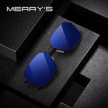 MERRYS Uomini di DISEGNO Classico HD Polarizzati Occhiali Da Sole Di Lusso di Marca occhiali da Sole Per La Guida di TR90 Gambe UV400 Protezione S8213