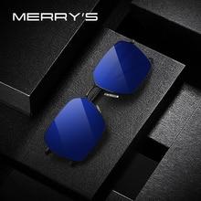 Мужские классические поляризационные солнцезащитные очки MERRYS, роскошные брендовые солнцезащитные очки для вождения TR90 Legs, защита UV400, S8213