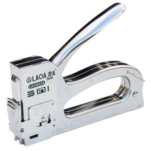 Image 1 - LAOA Nail Gun Upholstery Framing Rivet Staple Guns Kit Furniture Stapler For Wood Door Nailers Rivet Tool Gift with Needles