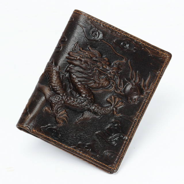 Genuine Leather Men's Wallet (Dragon)