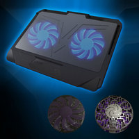 Portable Laptop Cooling Pad Laptop Cooler USB Fan With 2 LED Cooling Fans Light With Notebook