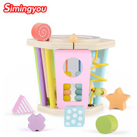 Simingyou Multi purpose Building Block Six sided Shape Wooden Toys Development Intelligence For Children C20 DropShipping
