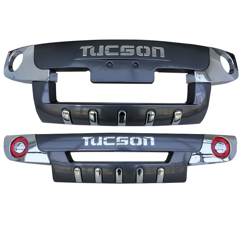 JIOYNG For Hyundai Tucson 2005-2012 Front+ Rear Bumper Diffuser Bumpers Lip Protector Guard skid plate ABS Chrome finish car accessories abs front rear bumpers car bumper protector guard skid plate fit for 2012 2014 great wall haval hover m4