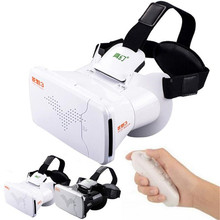 High Quality Adjustable Google Cardboard VR BOX Virtual Reality 3D Glasses For iPhone 6S/6S Plus + Remote Control Android