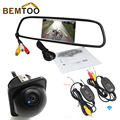 BEMTOO 2.4G Wireless 5 Pulgadas 800*480 Hd de Coches Espejo Retrovisor con 170 Gran Angular de Visión HD Noche Coche Cámara de Visión Trasera de aparcamiento