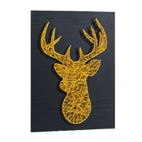 Business gift string art 3D golden deer Nordic wedding decoration yarn winding nail painting home decoration painting DIY kit