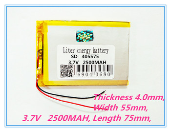 Size 405575 3.7V 2500mah Lithium polymer Battery With Protection Board For GPS Tablet PC Digital Products Free Shipping