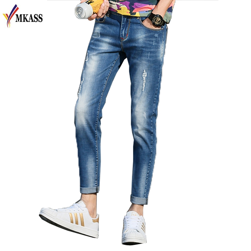 Men Jeans 2017 New Fashion Slim Fit Skinny Jeans Wash Denim Trousers Brand Clothing Plus Size 28-36 inc international concepts petite new diva wash skinny leg jeans 6p $69 5