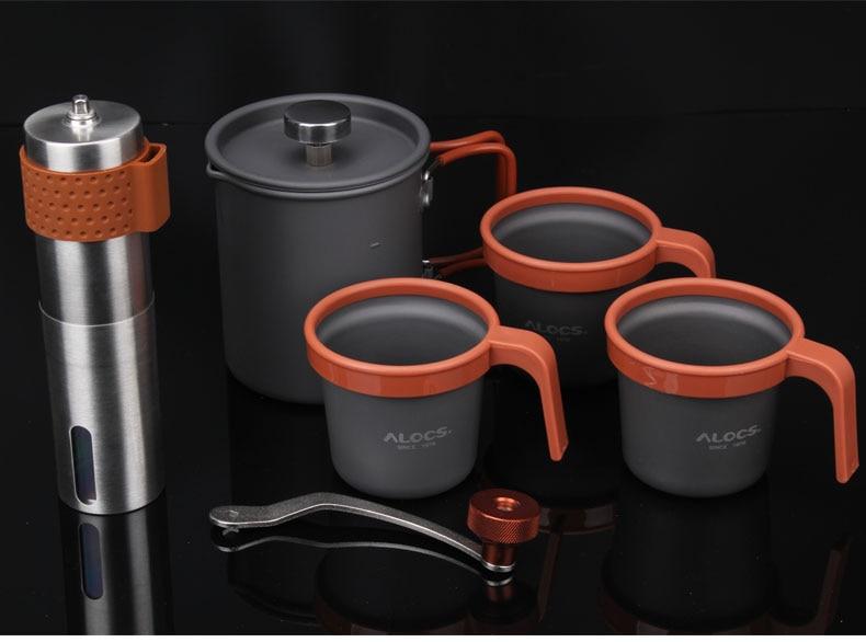 Руководство мини Кофе горшок набор чайник и Шлифовальные станки открытый для путешествий NEWBRAND подходит для туристов, чтобы носить с собой