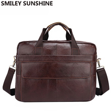 Echtes Leder Männer Aktentaschen Handtasche Dokument Braun Business Büro Laptop Tasche Leder Kurze Fällen Männliche Arbeit Tasche Aktentasche
