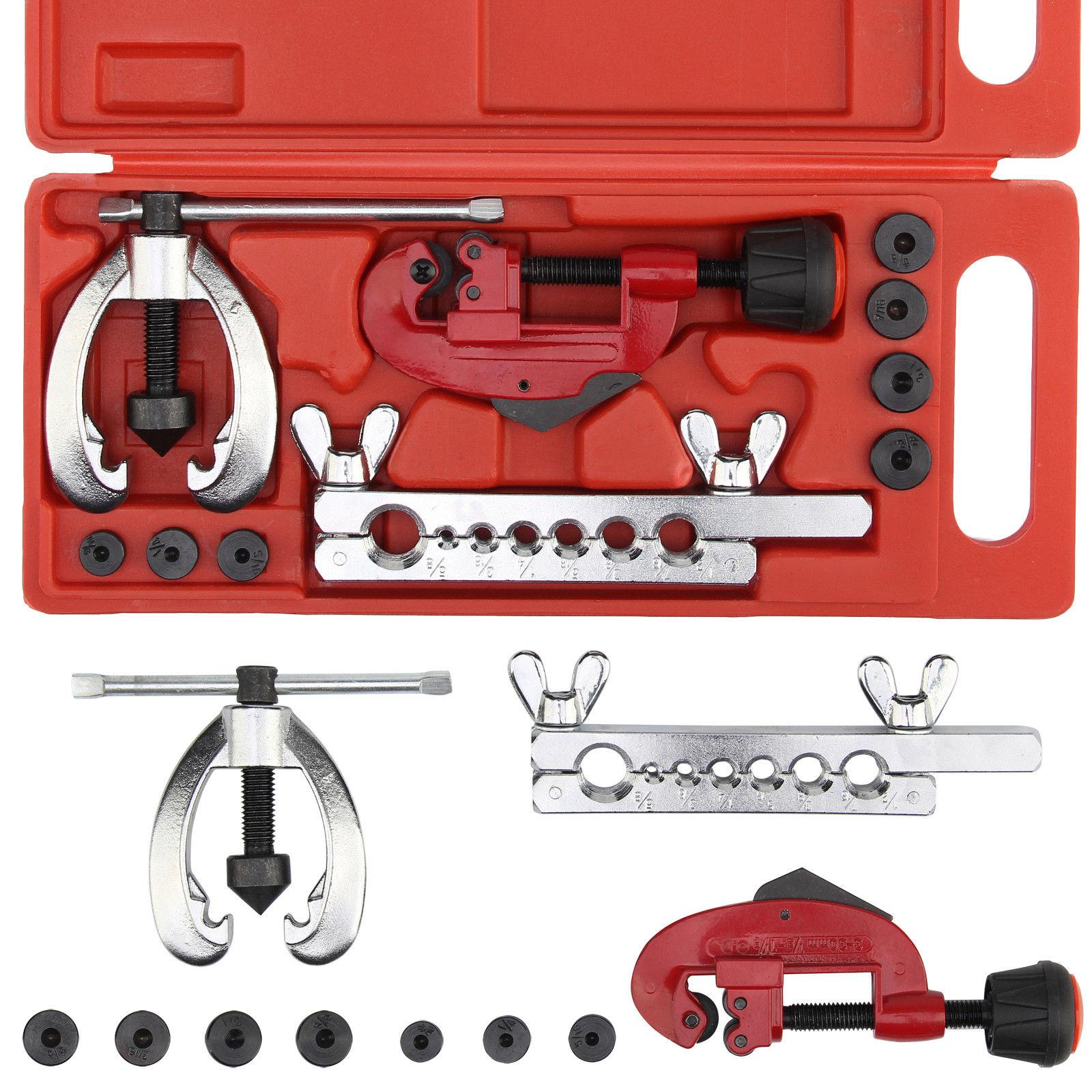 10 Metric Flaring Tool Kit Brake Pipe Repair Tool Set Tube Cutter With Storage