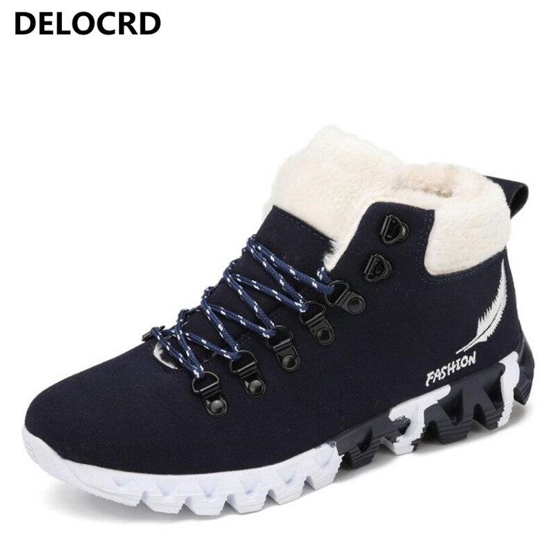 Новинка зимы хлопковая обувь Для мужчин плюс бархат плюс хлопок обувь увеличились 5 см Для мужчин обувь модные зимние ботинки зимние Для муж... ...