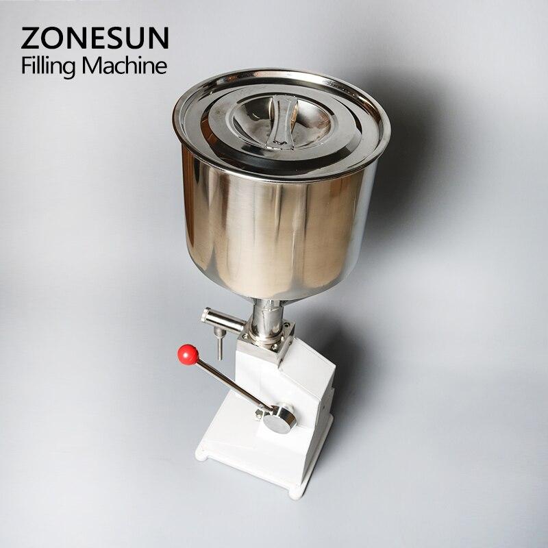 Máquina Manual de llenado de alimentos ZONESUN, máquina de presión de la mano, crema de Arequipe, equipo de envasado de Pasta Líquida de miel, relleno de zumo de champú - 5