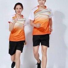 ТЕННИСНАЯ СПОРТИВНАЯ ОДЕЖДА дышащие быстросохнущие футболки wicking одежда унисекс футболка одежда для настольного тенниса рубашка+ шорты L2057YPC