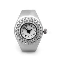 YCYS-Women Silver Alloy Quartz Movement Pocket Finger Ring Watch