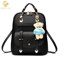 2017 New Arrival Fashion Women Backpack Leather New Spring And Summer Students Black Backpack Women Space