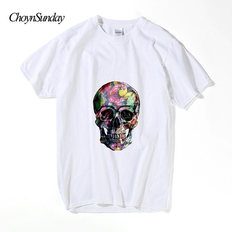 2018 ChoynSunday Brand Rock Soul Hip Hop Man Tshirt Black White - Տղամարդկանց հագուստ