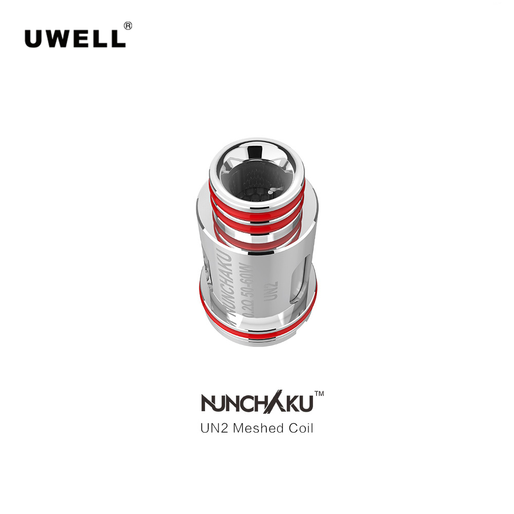 8 12pcs Original Uwell Crown III UN2 0.23ohm/ NUNCHAKU UN2 0.2ohm Mesh Coil E Cigarette Accessories For Uwell Tank Vape Tank