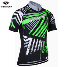 SIILENYOND 2017 Cycling Jersey Short Sleeve Maillot Ropa Ciclismo Mountain Bike Clothing Mens Racing Bicycle Clothes Uniforms