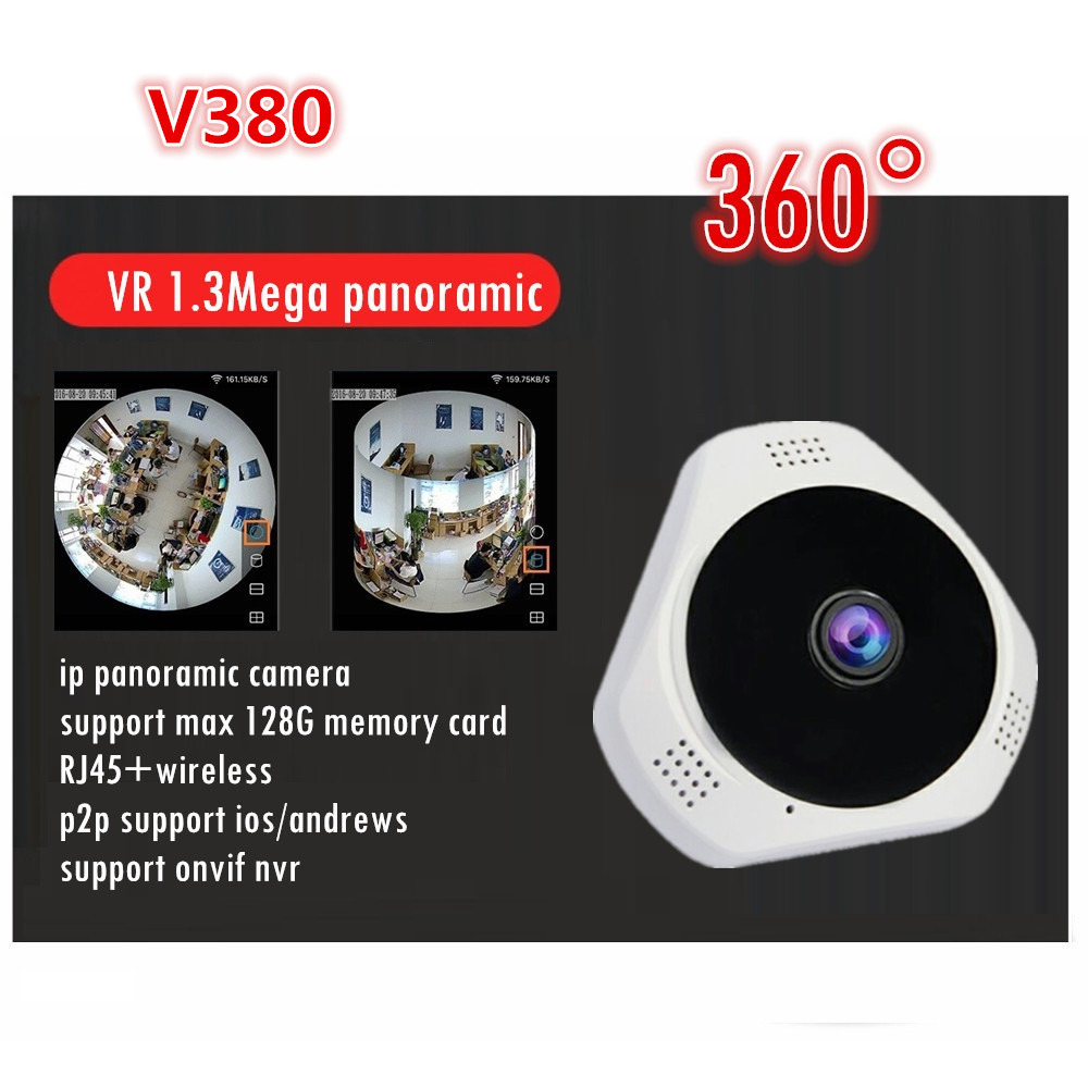 wifi VR 360 wireless for smart phone support sd memory 128G card v380 960P 1.3MP HD ip panoramic camera original sd memory card cover for nikon d7100 d7200 camera replacement unit repair part
