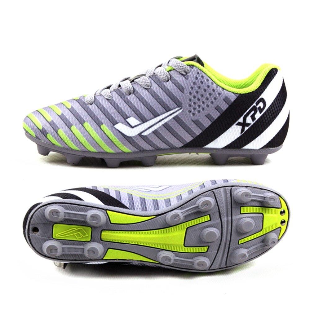 Chaussures de Football pour hommes 2017 chaussures de Football de Sport pour hommes garçons en plein air longues pointes FG chaussures de Football hommes baskets chaussures de Football Futsal