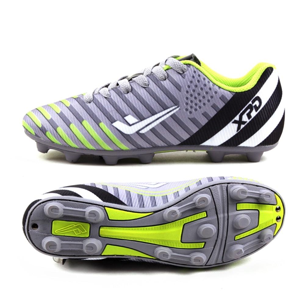 Hommes Chaussures 2017 Sport de Football Chaussures de Football pour Homme Garçons en plein air Longues Pointes FG Football Chaussures Hommes Chaussures de Football Futsal chaussures