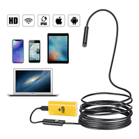 Smart WIFI Endoscope 8mm Lens 6 LED Waterproof IOS Endoscope Inspection Borescope Fishing Mini Camera 1
