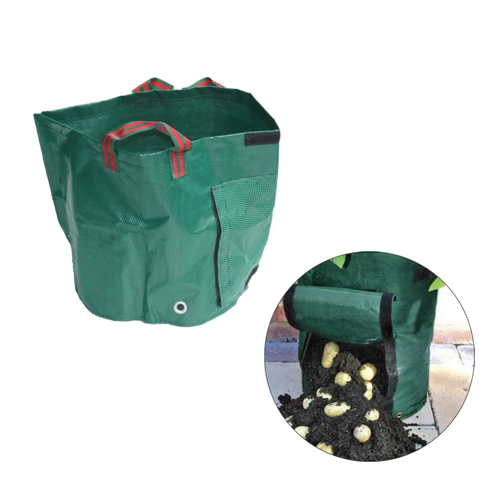 Woven Vegetable Garden Growing Bag Pot
