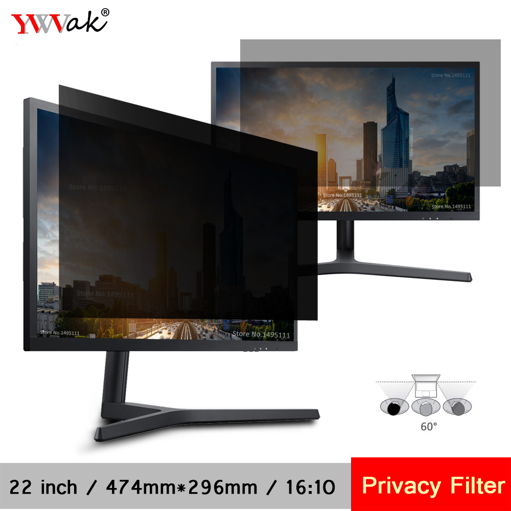 22 inch (474mm*296mm) Privacy Filter LCD Screen Protective film For 16:10 Widescreen Compu