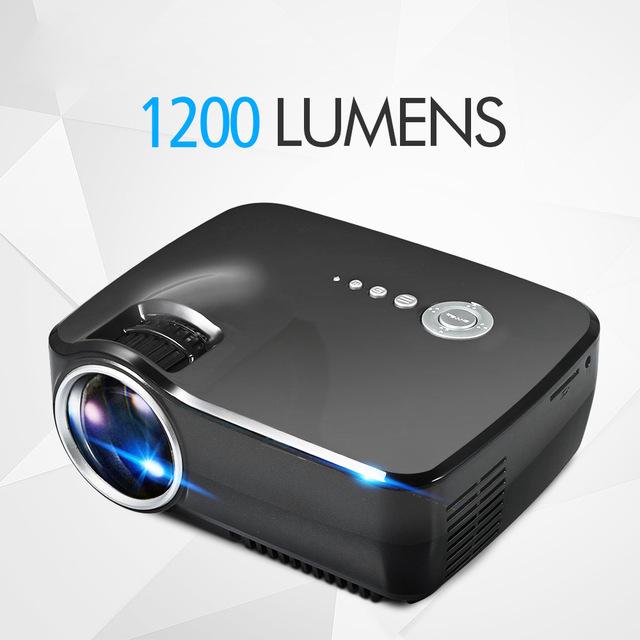 Prix pour D'origine EMP GP70 Portable 1200 Lumens Full HD 1080 P LED Projecteur Vidéo Cinéma 5.1 Stéréo Audio Sortie Projecteur L'UE/US Plug