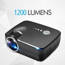 Original EMP GP70 Portáteis 1200 Lumens Full HD 1080 P LED Projetor de Vídeo Projetor de Cinema 5.1 de Saída De Áudio Estéreo UE/Plug EUA