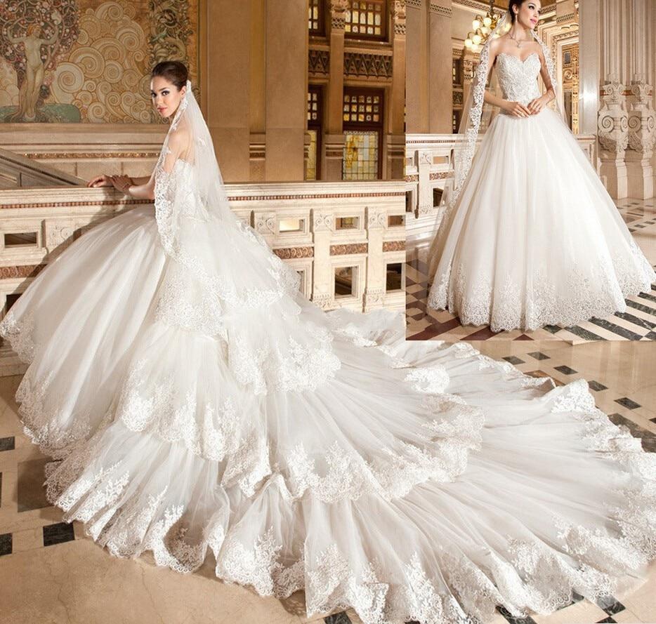 Bridal Detachable Train: 2017 Gorgeous Lace Wedding Dress Detachable Train Ball
