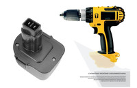Best 12V 3500mAh Battery Replacement Power Tools Batteries Cordless Drill for Dewalt DE9071 2802K DE9074 DE9075 DC740K Ni MH