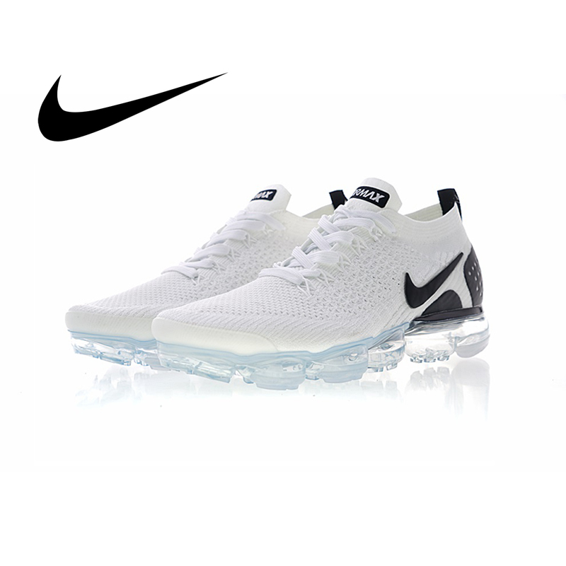 Original Authentic NIKE AIR VAPORMAX FLYKNIT 2.0 Men's Running Shoes Outdoor Classic Sports Shoes  New Breathable 942842-009