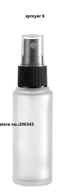 30 мл матовое стекло бутылки с пластиковый насос/распылитель для лосьон/эмульсия/сыворотка/Фонд/тонер /опрыскиватель уход за кожей упаковка - Цвет: sprayer 6