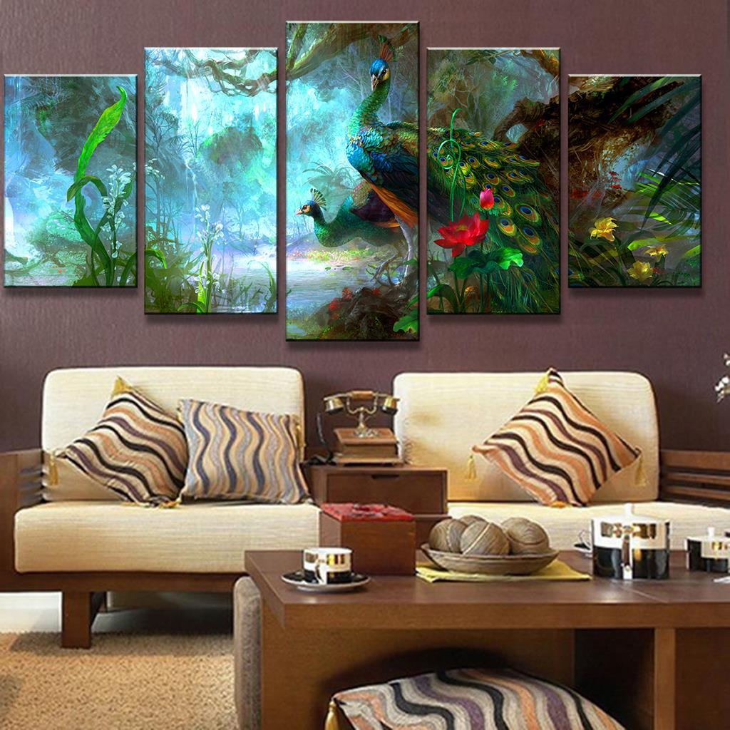 Peacock Living Room Online Get Cheap Peacock Art Prints Aliexpresscom Alibaba Group