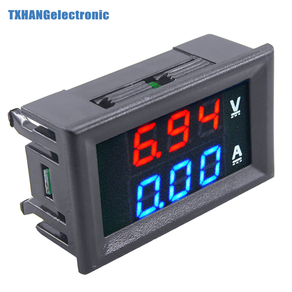 DC 0-100V 10A 0.28 Digital Voltmeter Ammeter Red Blue LED Dual Display Voltage Current Indicator Monitor Detector