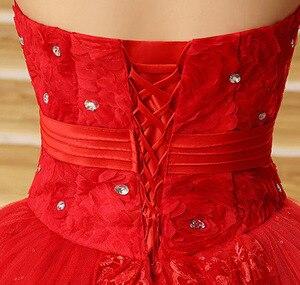 Image 5 - beautiful Vintage Lace Red Wedding Dresses 2020 Long Train Plus Size vestidos de noiva robe de mariage bridal dress Ball Gown