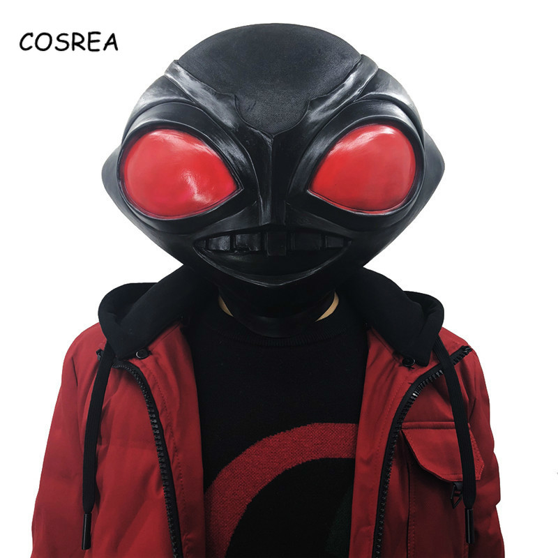 Movie Aquaman Cosplay Costumes Mask Aquaman Black Manta Full Face Mask Helmet Props Halloween Latex Masks Adult Men Women Kids