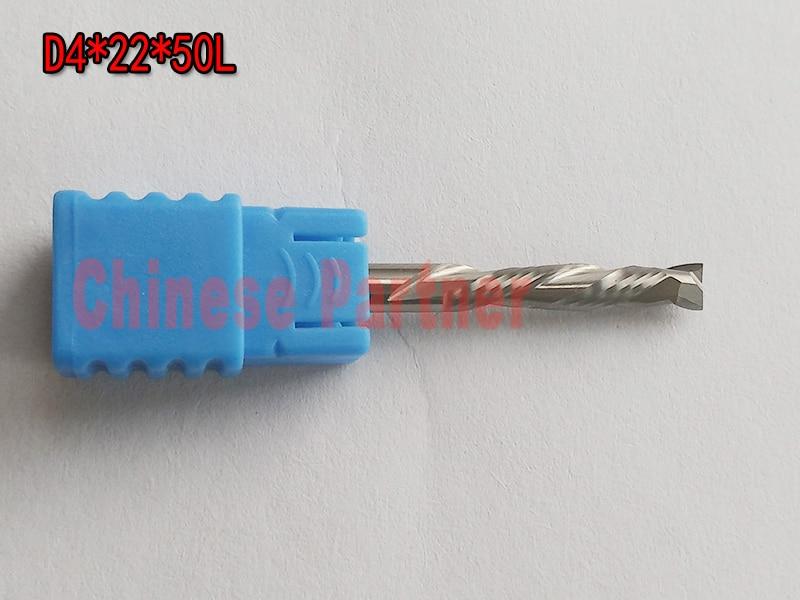 2pcs/lot D4x22x50L 2 Flute HRC55 Up&Down Cut Solid Carbide CNC Router Bit Wood Endmill knife End Milling Cutter Tool  bulk 5pc hrc45 4 flute 4mm x 50mm carbide endmill cutter