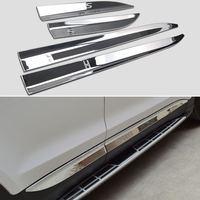 ABS Chrome Side Door Garnish Molding Trim 4P For HYUNDAI 2013 2014 2015 2016 2017 2018 Santa Fe DM Accessories Car Styling