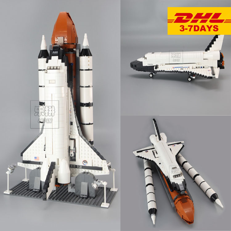 IN STOCK New 16014 1230Pcs Space Shuttle Expedition Model Building Kits Set Blocks Bricks Compatible Children