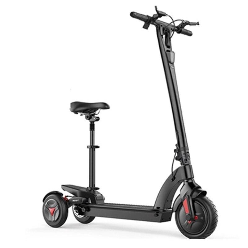 Scooter électrique pliable à trois roues 48 V 350 W E Scooter debout adulte avec siège
