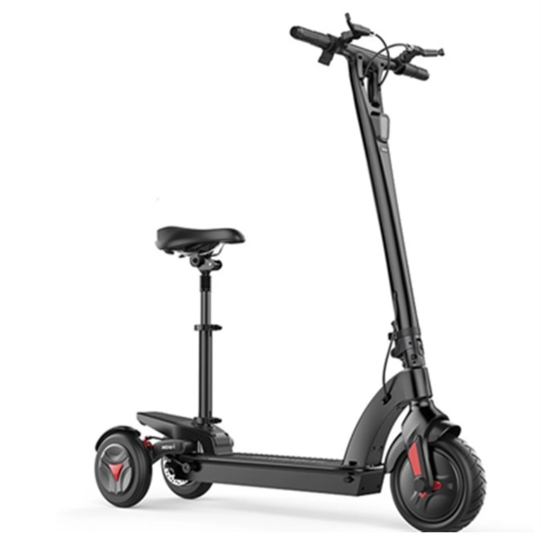 Scooter With Seat >> Three Wheel Foldable Electric Scooter 48v 350w E Scooter Onetime