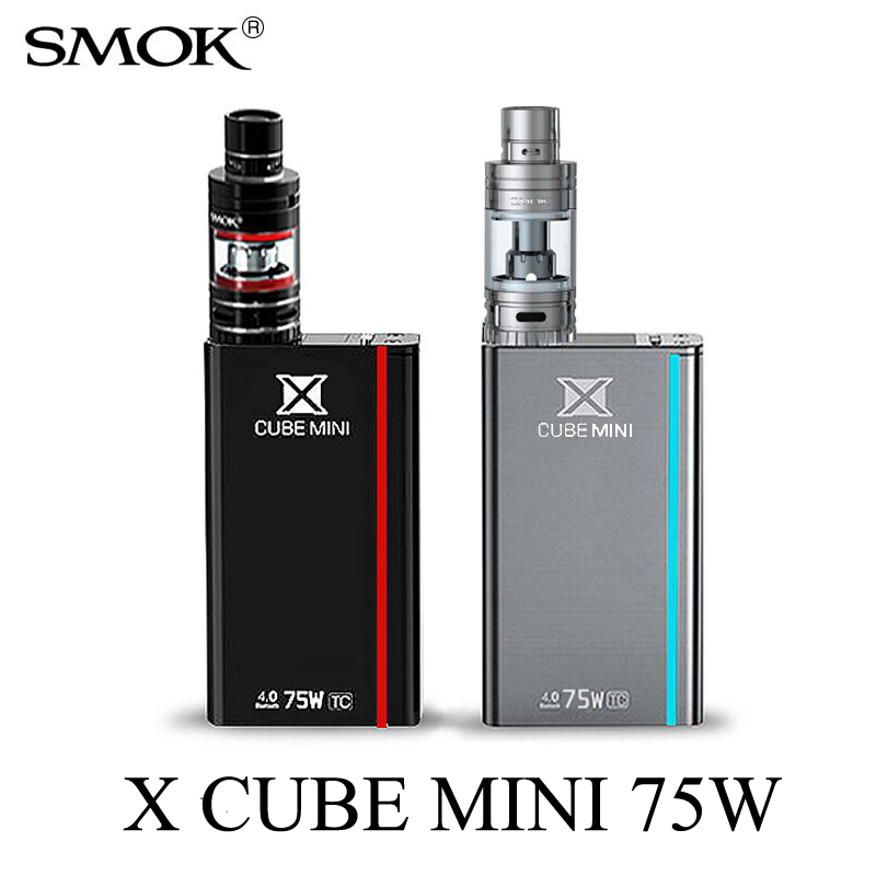 Electronic Cigarette SMOK X CUBE Mini 75W Kit Vape Mod for Micro TFV4 Atomizer or ECT